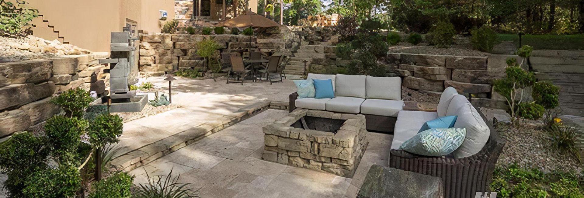 Residential backyard landscaping